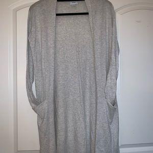 Sweaters - Long Gray Cardigan